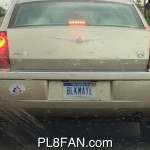 "BLKMAYL ""Blackmail"" or ""Black Male"" Custom Plate"