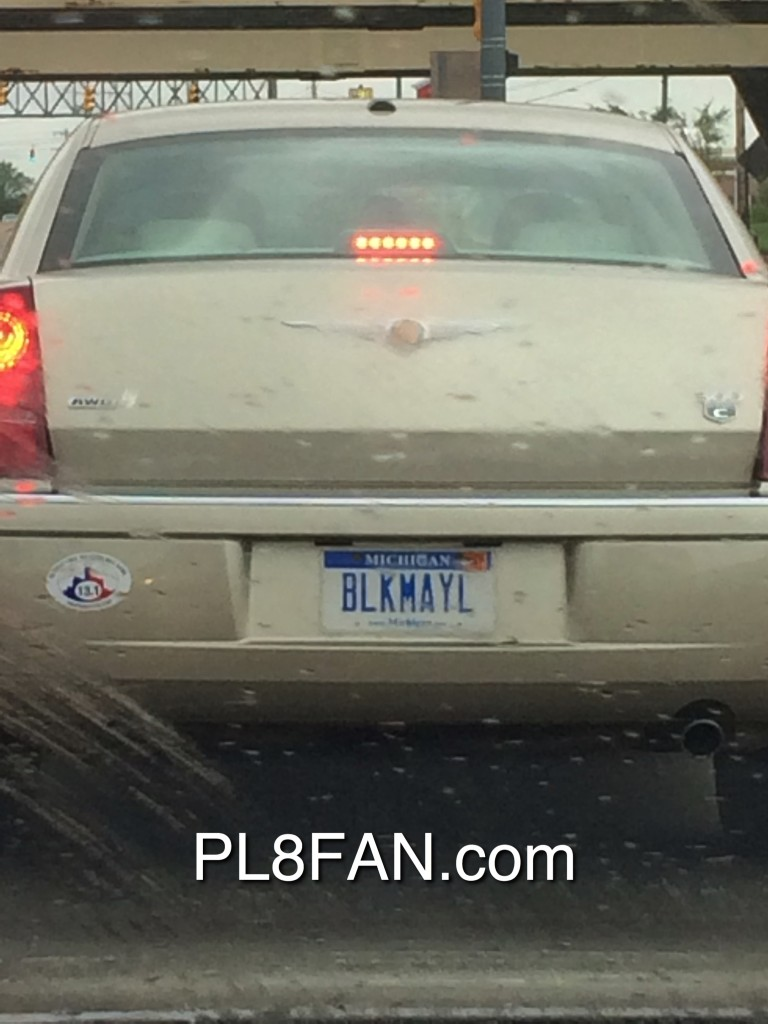 "Custom license plate BLKMAYL ""Blackmail"""